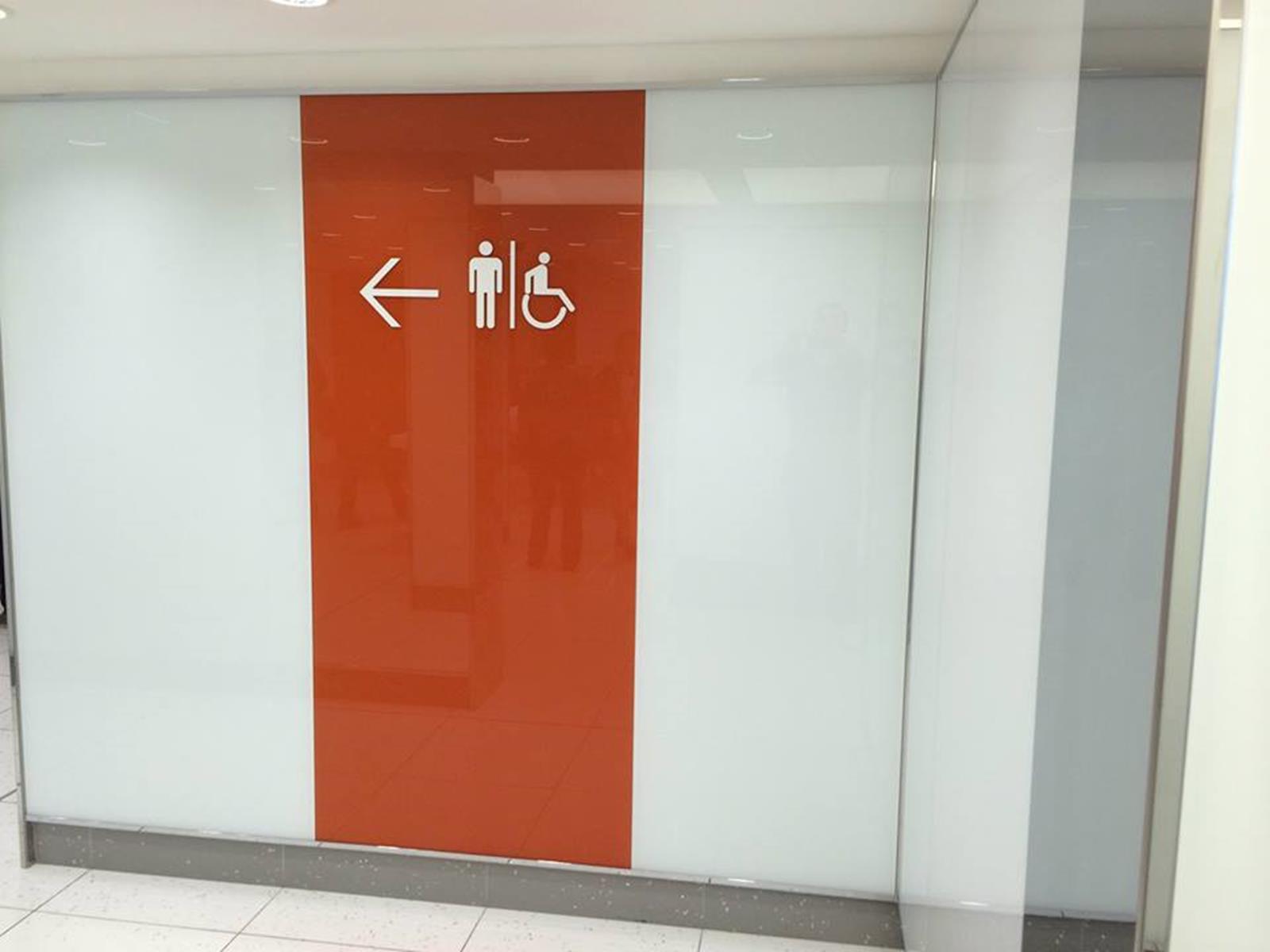 Porte wc en verre laqu abm miroiterie vitrerie for Porte wc salon